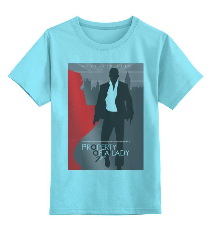 Детская футболка классическая унисекс Printio Property of a lady - 007 футболка для беременных printio property of a lady 007