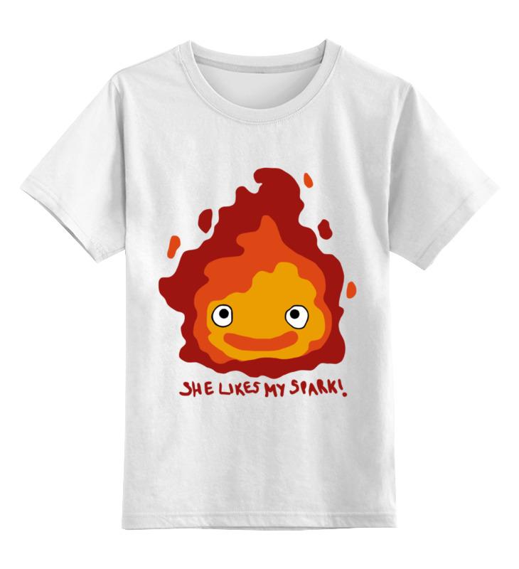 Детская футболка классическая унисекс Printio Огонь цена и фото