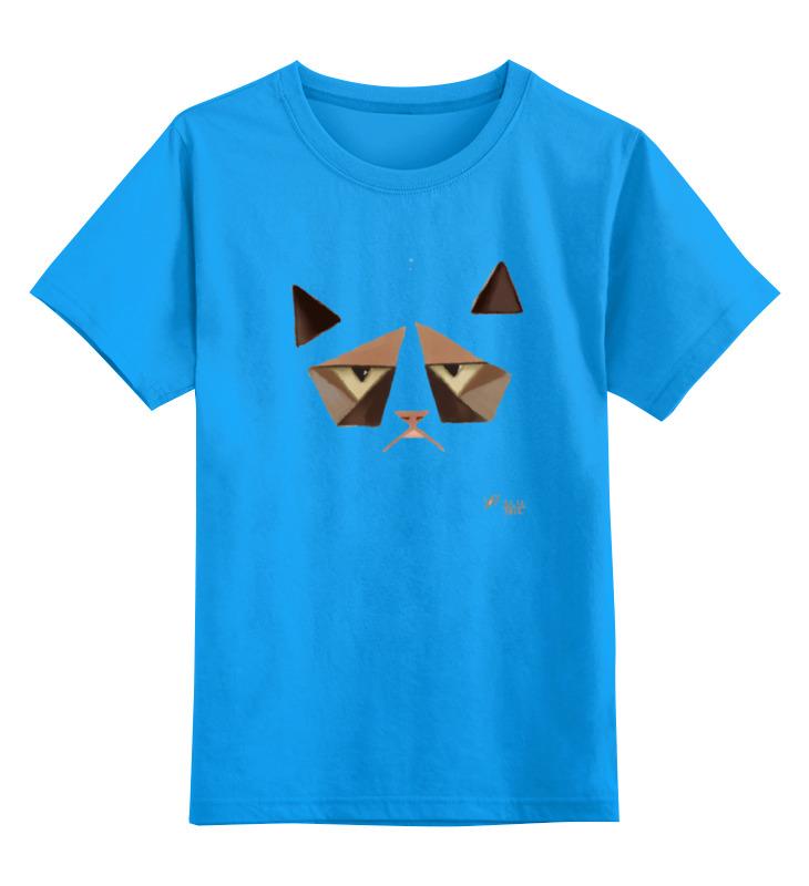 Детская футболка классическая унисекс Printio Сердитый котик / grumpy cat (art nouveau)