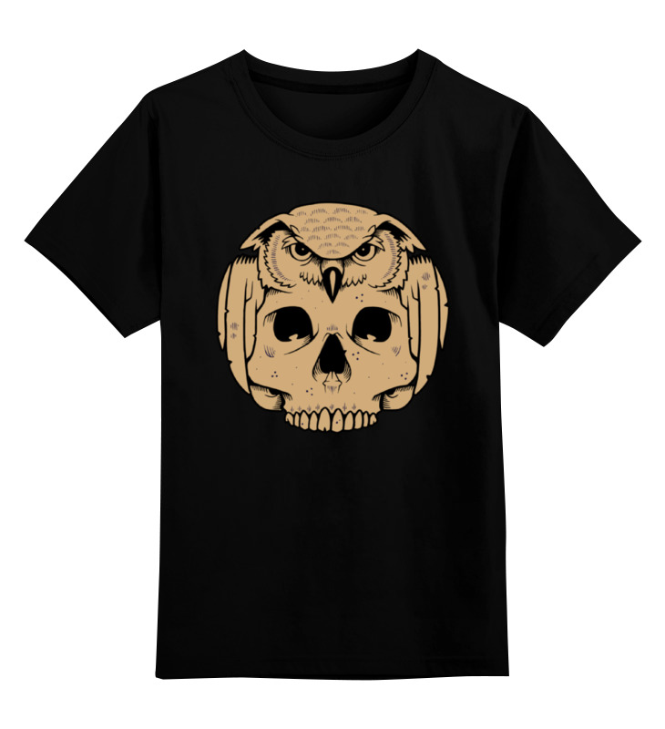 Детская футболка классическая унисекс Printio Owl scull / сова с черепом цена