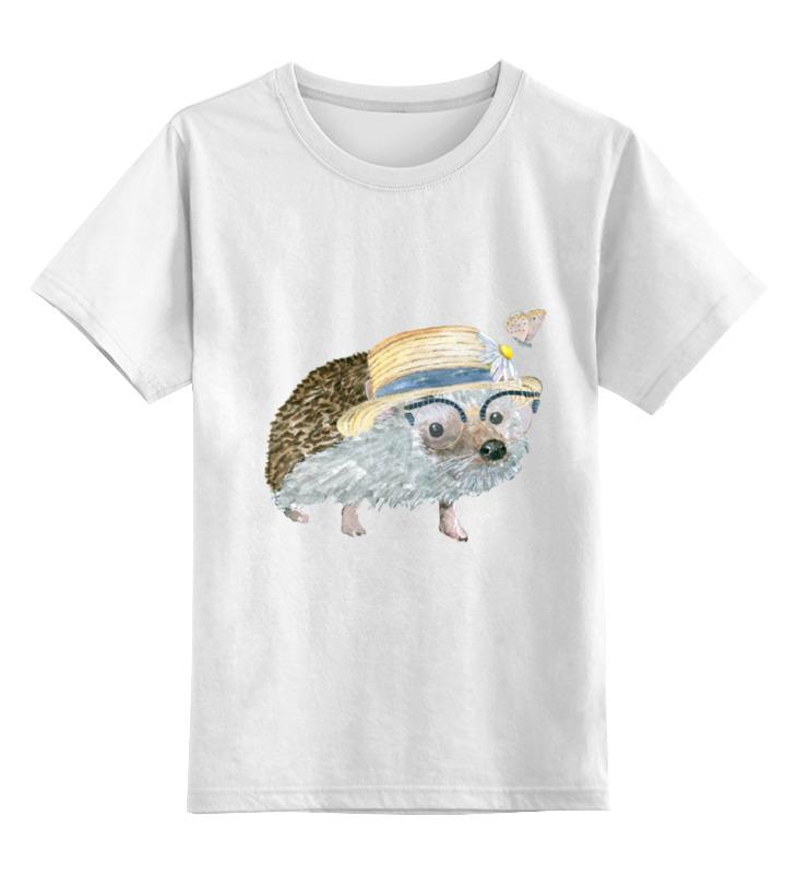 Детская футболка классическая унисекс Printio Ежик в шляпе футболка классическая printio девушка в шляпе