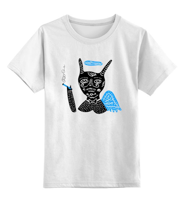Детская футболка классическая унисекс Printio Smoking angel angel 300