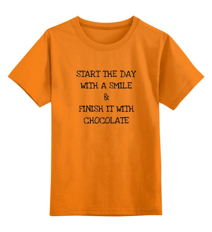 Детская футболка классическая унисекс Printio Smile and chocolate цена и фото