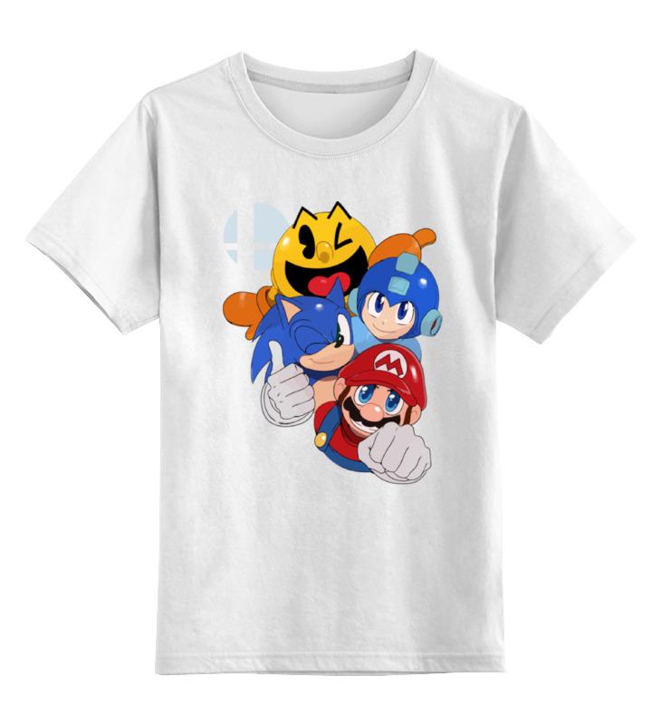 Детская футболка классическая унисекс Printio Герои 8-бит