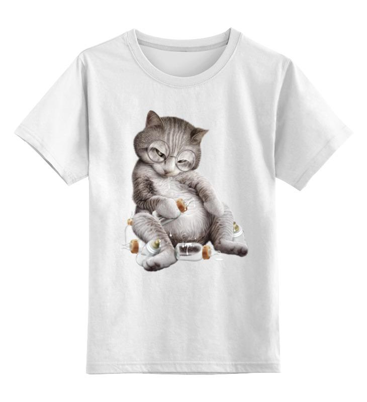 Детская футболка классическая унисекс Printio Налакался детская футболка классическая унисекс printio налакался