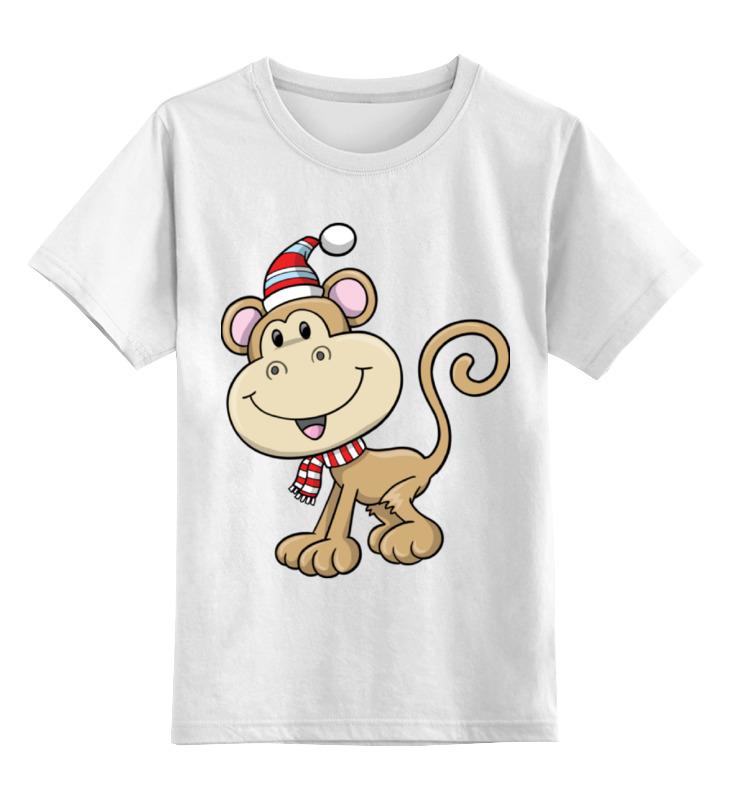 Фото - Детская футболка классическая унисекс Printio Обезьяна новый год худи print bar новый год 2017
