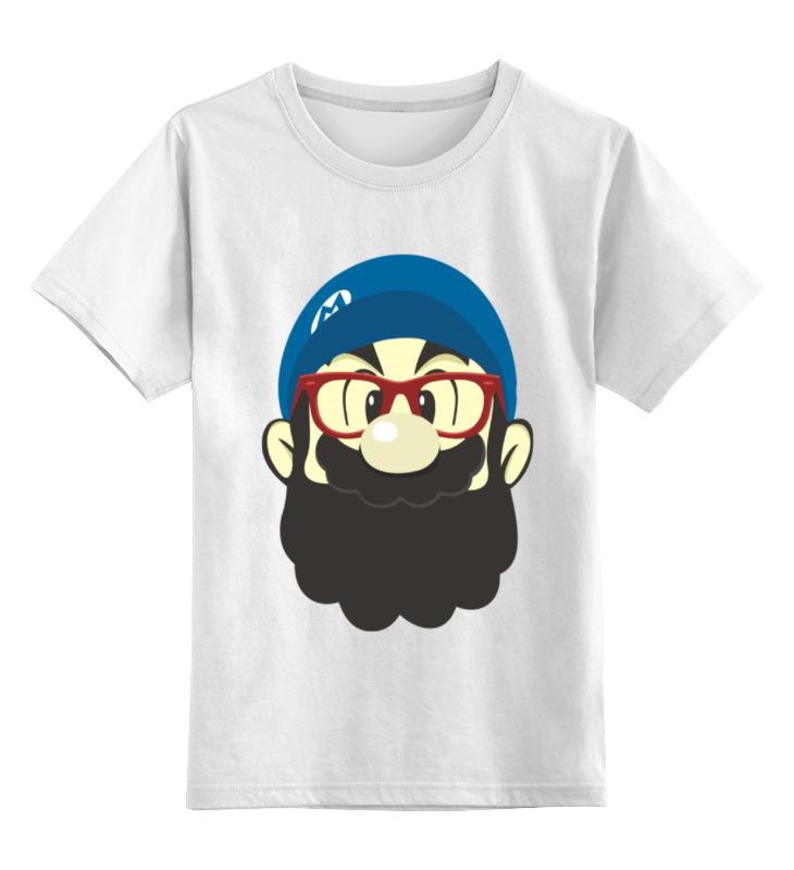 Детская футболка классическая унисекс Printio Марио хипстер детская футболка классическая унисекс printio кинг бу марио