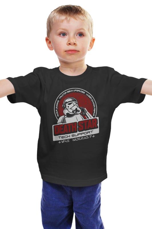 Детская футболка классическая унисекс Printio Death star tech support детская футболка классическая унисекс printio death