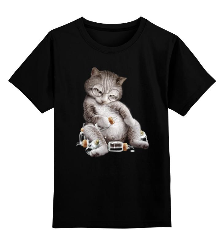 Детская футболка классическая унисекс Printio Налакался