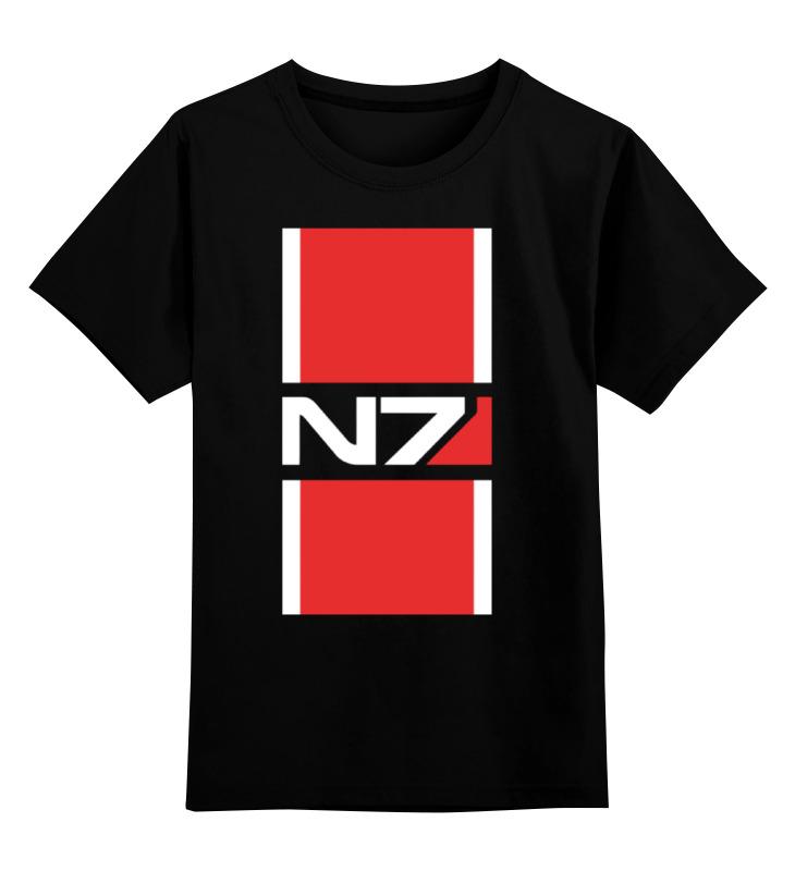 Детская футболка классическая унисекс Printio N7 (mass effect) лонгслив printio n7 mass effect