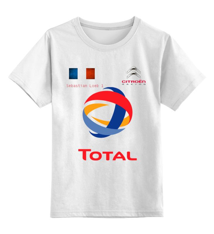Детская футболка классическая унисекс Printio Wrc sebastian loeb цена 2017