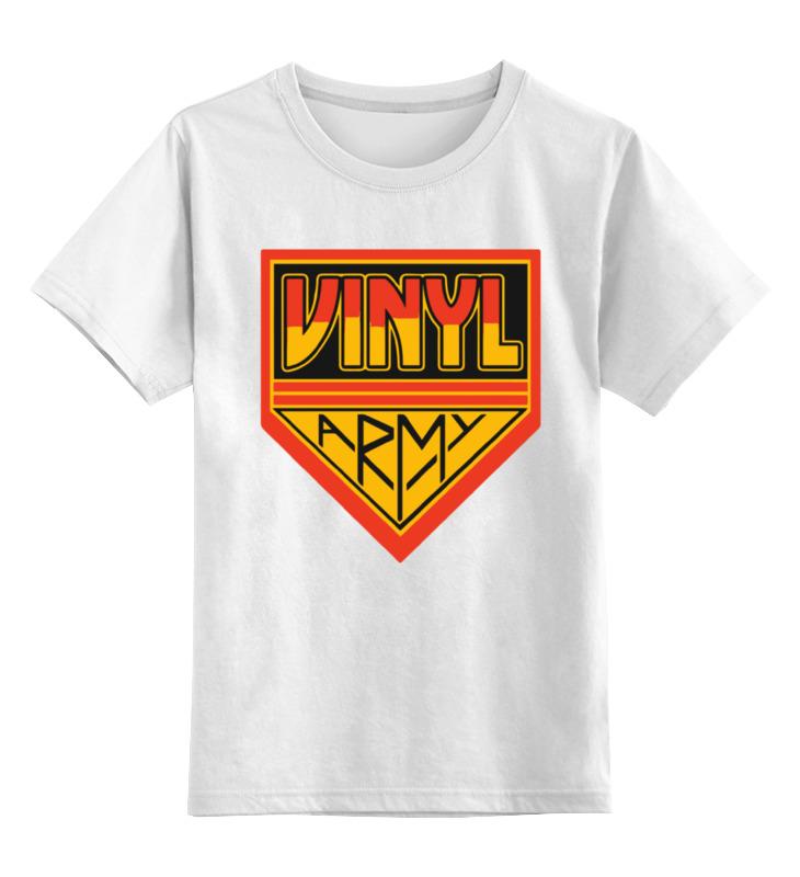 Детская футболка классическая унисекс Printio Виниловая армия шапка классическая унисекс printio армия