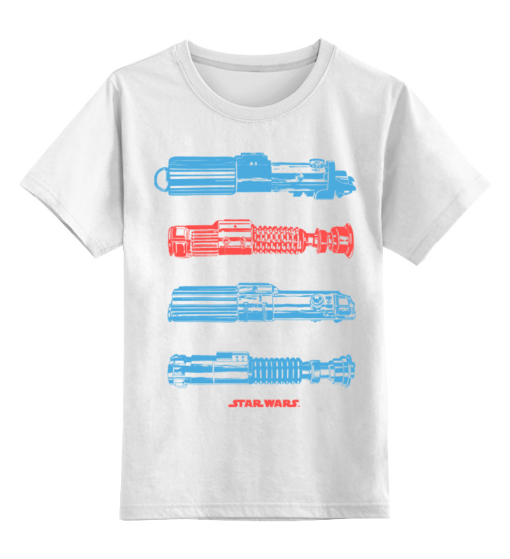 Детская футболка классическая унисекс Printio Световые мечи