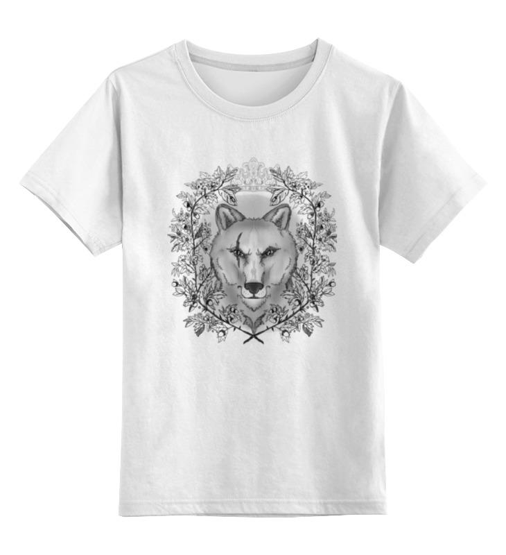 Детская футболка классическая унисекс Printio Тотем волк футболка для беременных printio олень тотем