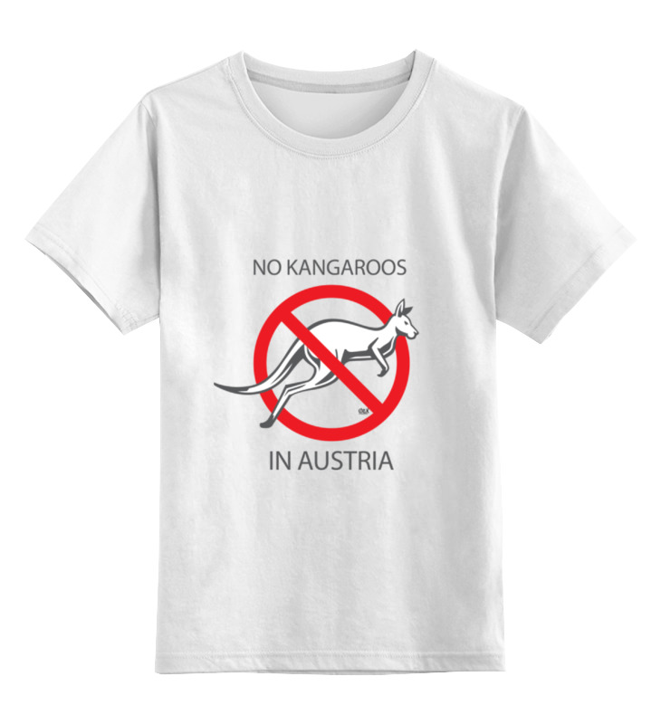 Детская футболка классическая унисекс Printio No kangaroos in austria комплект 2 части футболка топ quelle kangaroos 32462926
