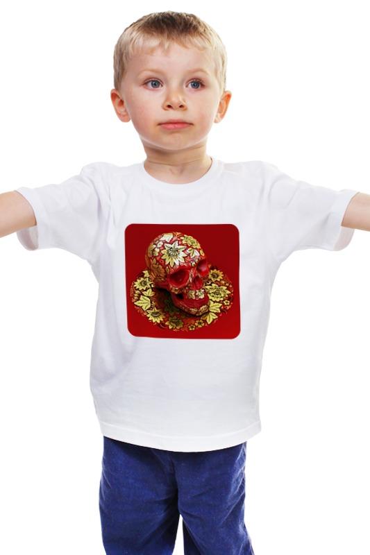 Детская футболка классическая унисекс Printio Череп (хохлома) хохлома в промыслах нижнегно новгорода