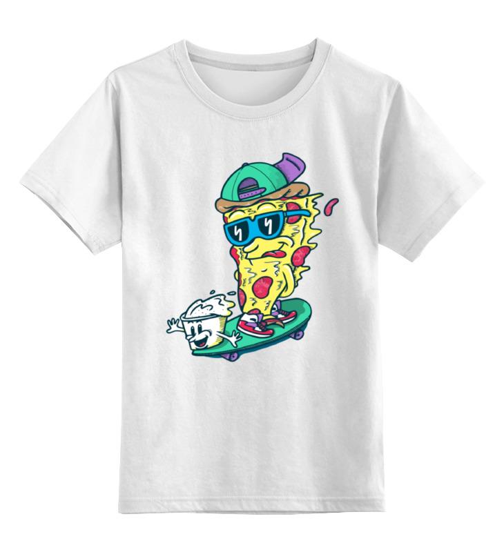 Детская футболка классическая унисекс Printio Пицца на скейте детская футболка классическая унисекс printio дракула на скейте