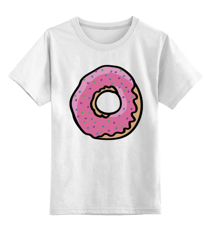 Детская футболка классическая унисекс Printio Пончик