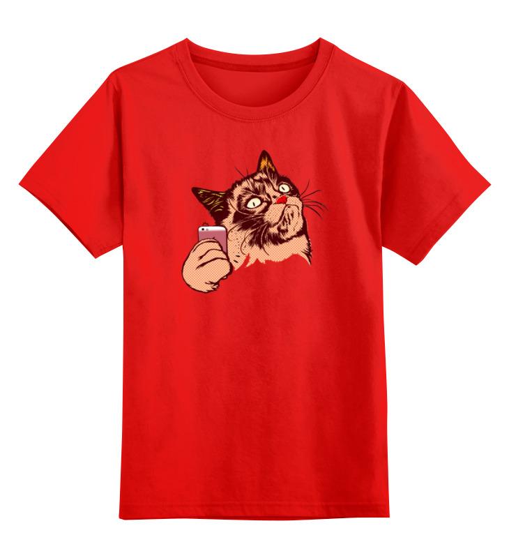 Детская футболка классическая унисекс Printio Селфи smoby детская горка king size цвет красный