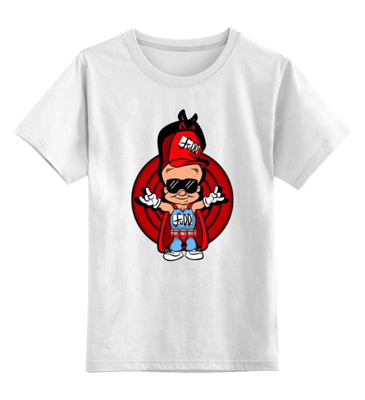 Детская футболка классическая унисекс Printio Элмер фадд футболка wearcraft premium slim fit printio элмер фадд