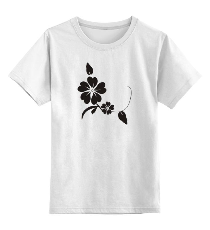 Детская футболка классическая унисекс Printio Черный цветок gangxun черный цвет