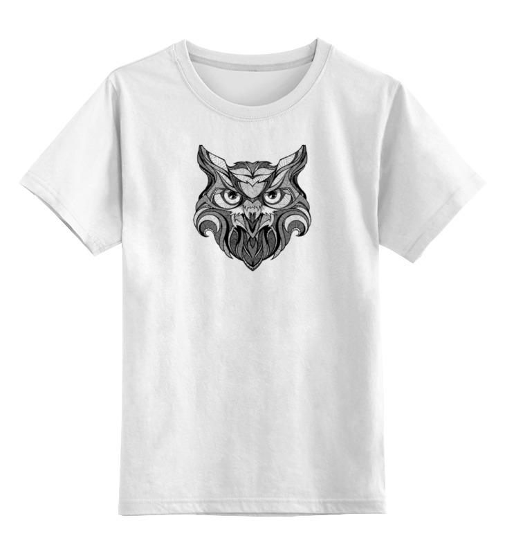 Детская футболка классическая унисекс Printio Сова стилизация цена и фото