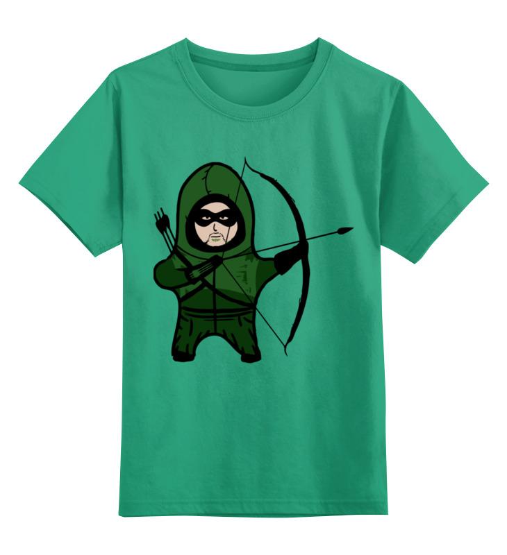 Детская футболка классическая унисекс Printio Зелёная стрела
