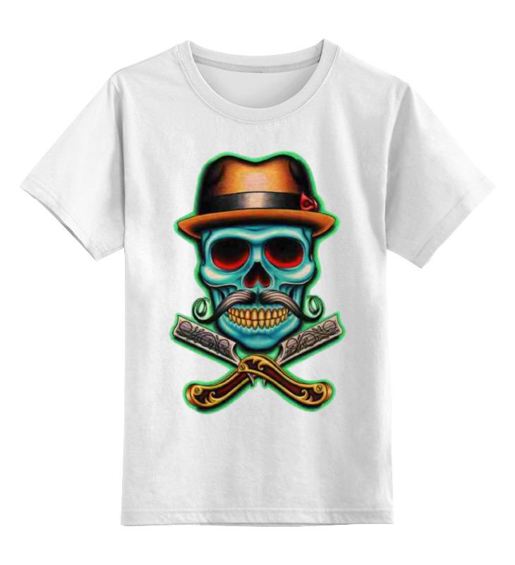 Детская футболка классическая унисекс Printio Skull art цена и фото