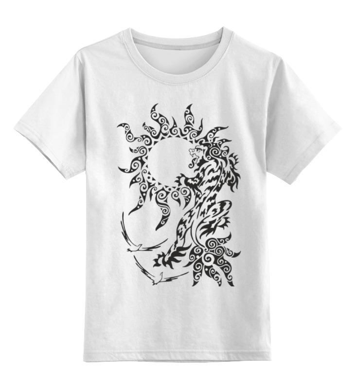 Детская футболка классическая унисекс Printio Снежный лев детская футболка классическая унисекс printio оранжевое солнце