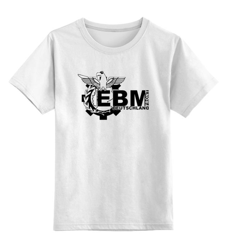 Детская футболка классическая унисекс Printio Ebm deutschland лого цена и фото