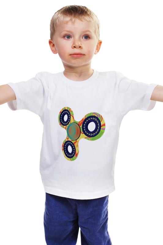 Детская футболка классическая унисекс Printio Спиннер