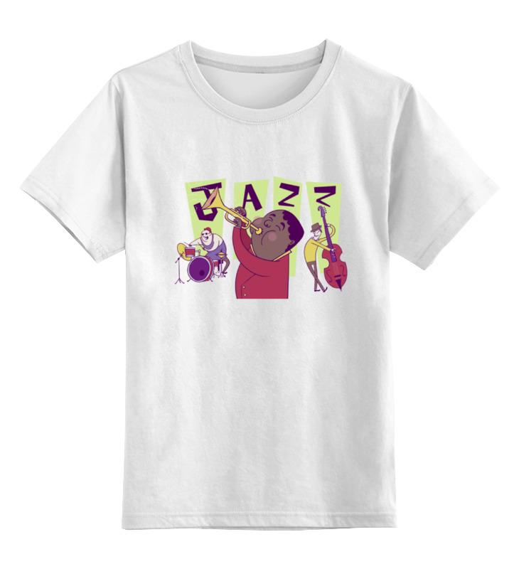 Детская футболка классическая унисекс Printio Джаз (jazz) футболка классическая printio джаз клуб jazz club