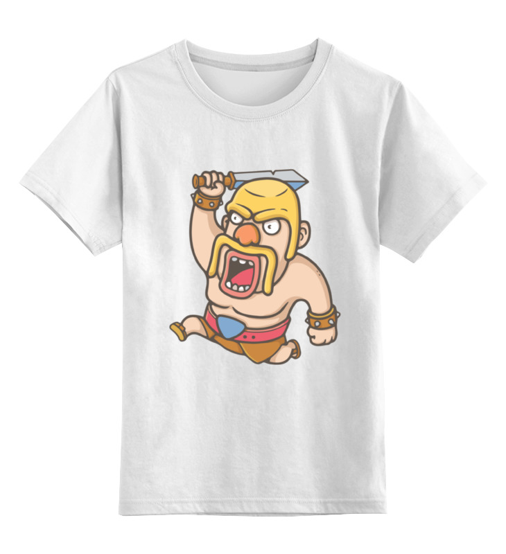 Детская футболка классическая унисекс Printio Варвар (clash of clans) футболка классическая printio варвар clash of clans