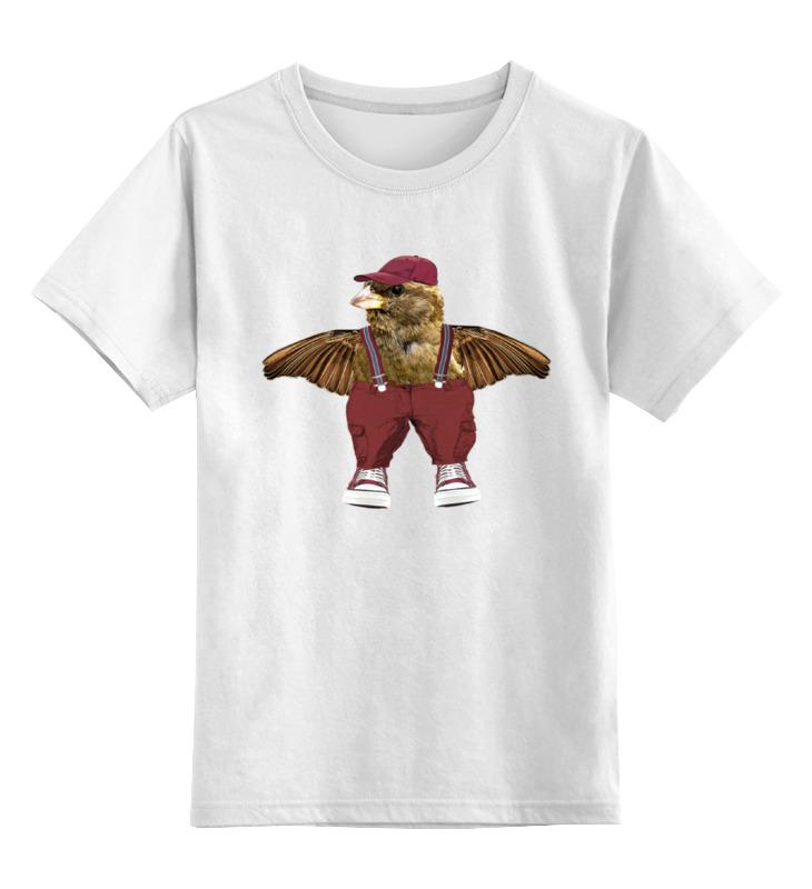 Детская футболка классическая унисекс Printio Воробей-обнимашка майка классическая printio воробей обнимашка