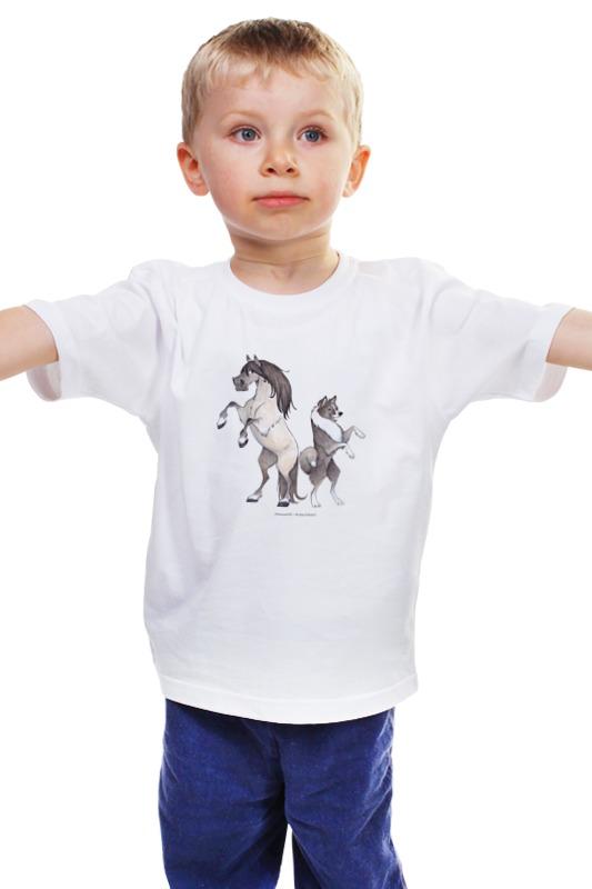 Детская футболка классическая унисекс Printio Якутская лошадь/якутская лайка