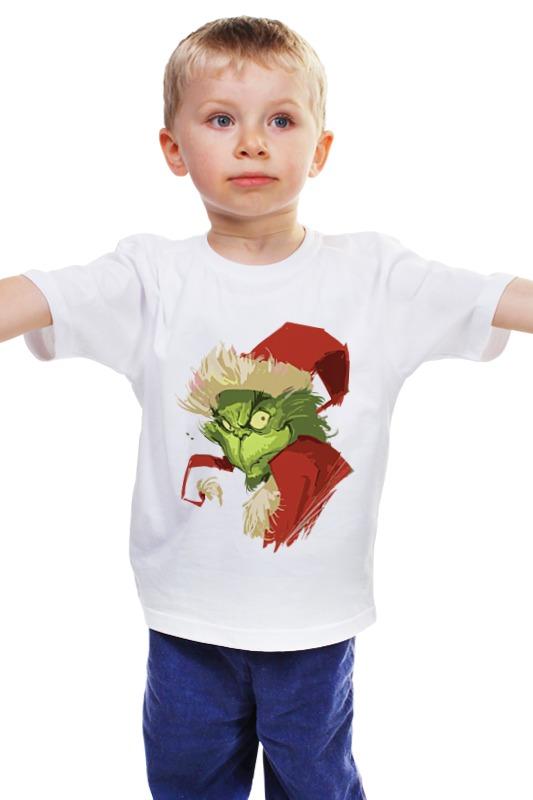 Детская футболка классическая унисекс Printio Гринч   grinch