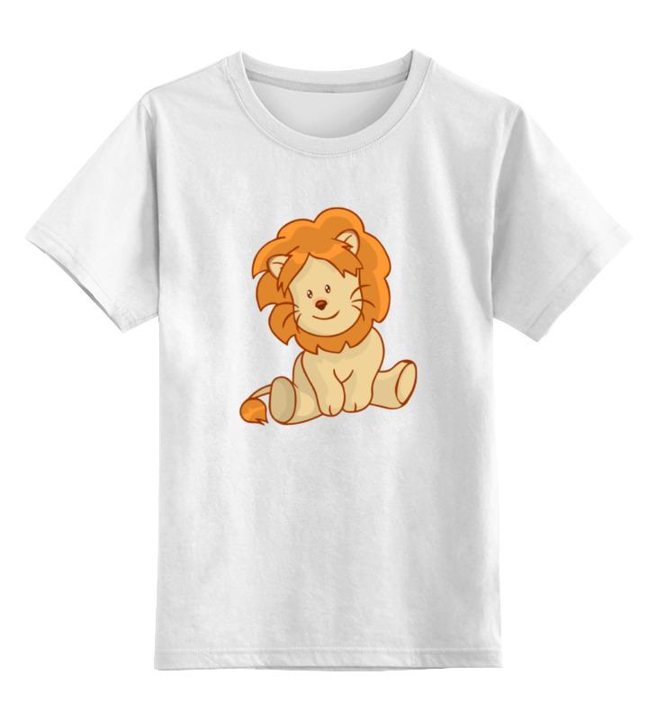Детская футболка классическая унисекс Printio Милый львенок цена и фото