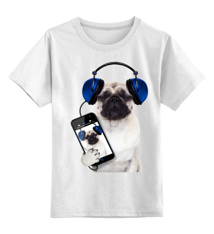 Детская футболка классическая унисекс Printio Собака мопс ty собака мопс мел 24 см