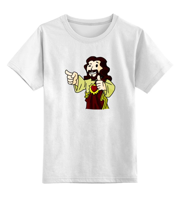 Детская футболка классическая унисекс Printio Иисус (фэллаут) цена и фото
