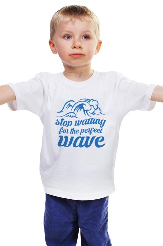 Детская футболка классическая унисекс Printio Волны