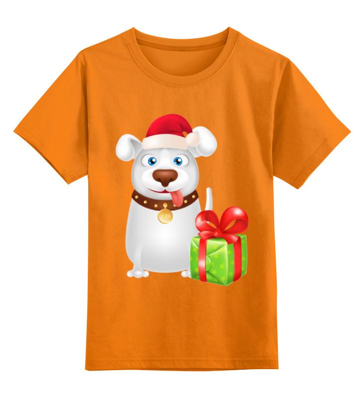 цена на Детская футболка классическая унисекс Printio Новогодняя собака