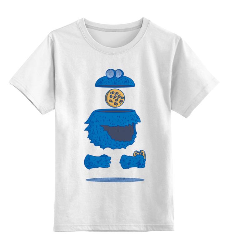 Детская футболка классическая унисекс Printio Печеньковое чудовище
