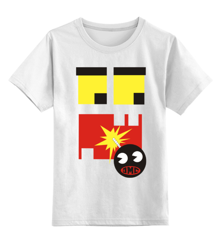 Детская футболка классическая унисекс Printio Пиксельный монстрик sbart upf50 rashguard 2 bodyboard 1006