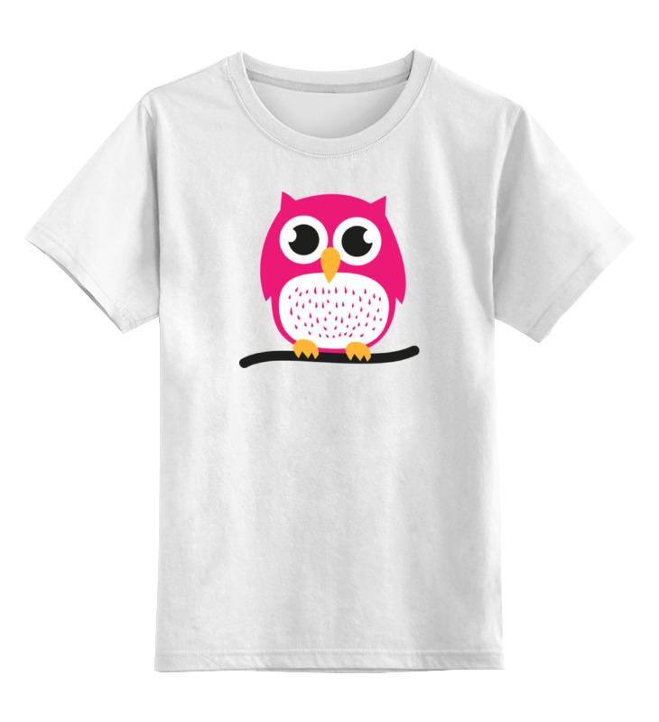 Детская футболка классическая унисекс Printio Розовая сова детская футболка классическая унисекс printio рога