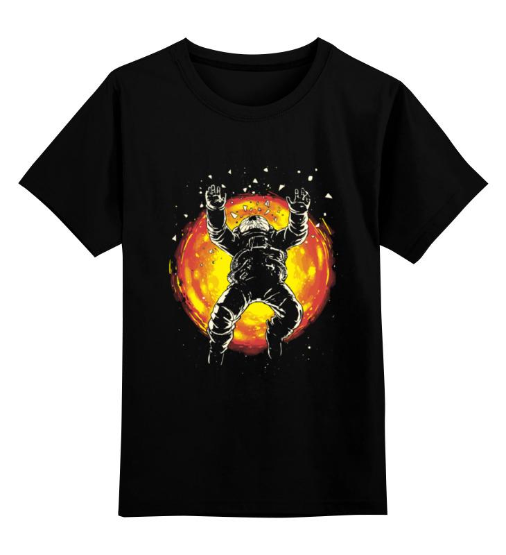 Детская футболка классическая унисекс Printio Космонавт (хьюстон  нас проблемма)