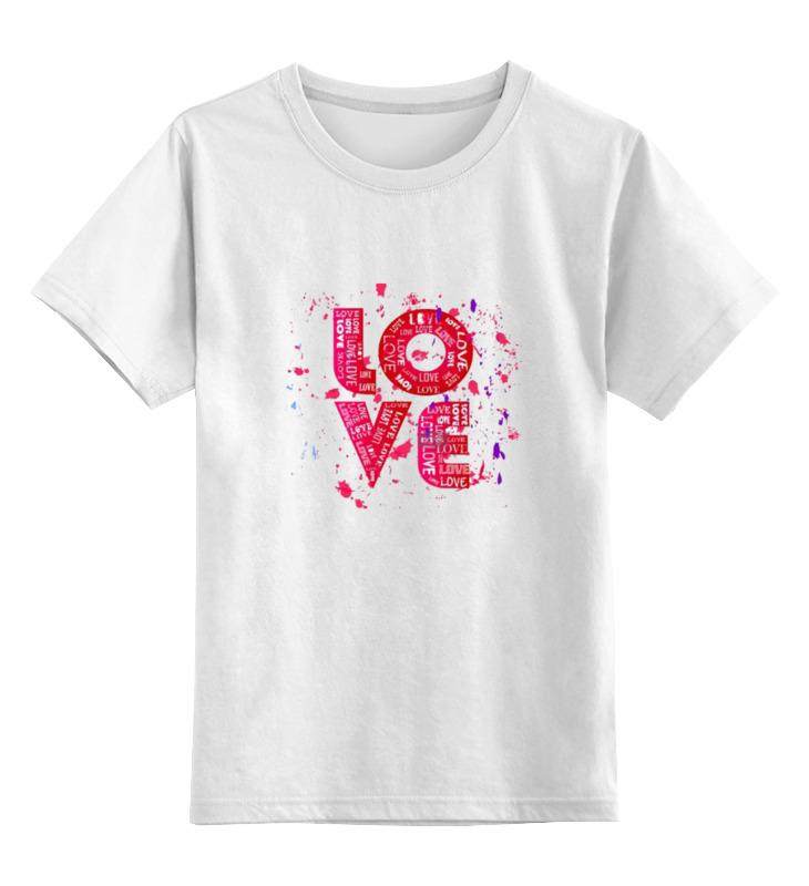 Детская футболка классическая унисекс Printio Love