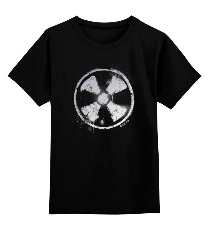 Детская футболка классическая унисекс Printio Логотип гранж