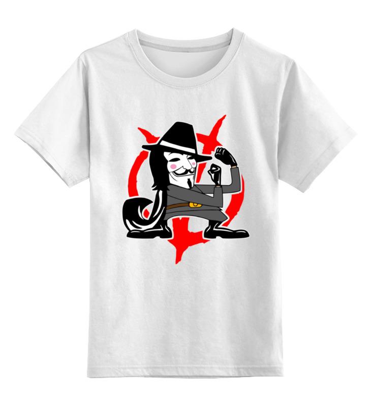 Детская футболка классическая унисекс Printio Вендетта (маска гая фокса)