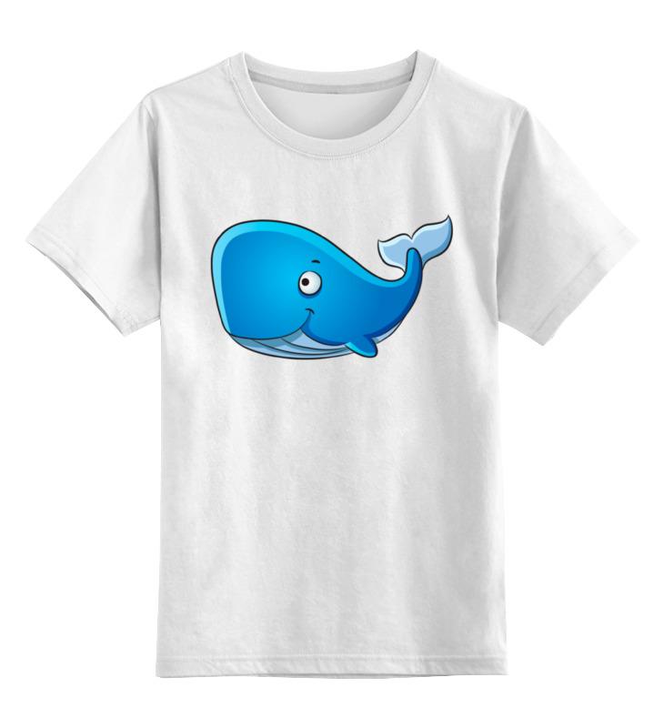 Детская футболка классическая унисекс Printio Голубой морской кит-кашалот футболка wearcraft premium slim fit printio голубой морской кит кашалот