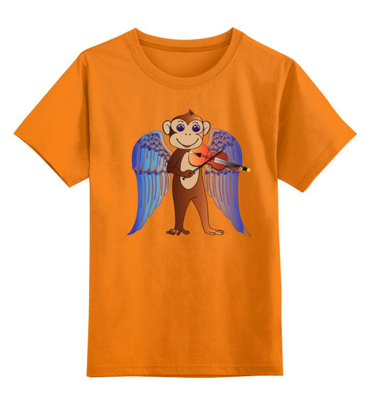 Детская футболка классическая унисекс Printio Обезьянка музыкант цена и фото